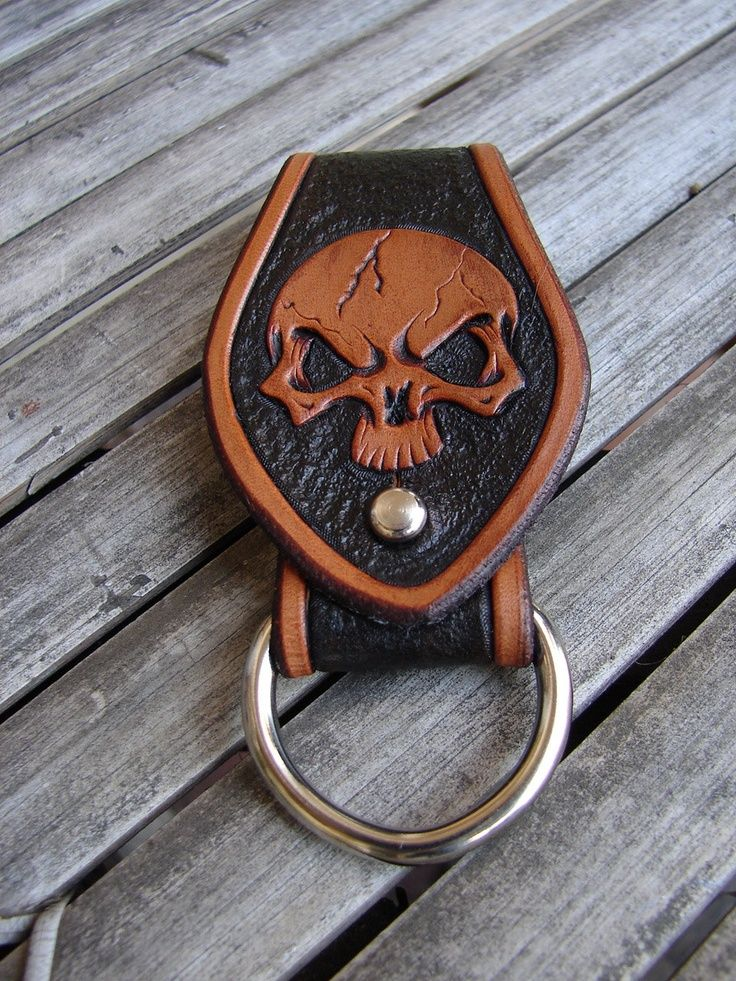 Sky pirate! Carved leather skull key fob. is creative inspiration for us. Get more photo about home decor related with by looking at photos gallery at the bottom of this page. We are want to say thanks if you like to share this post to another people via your facebook, …