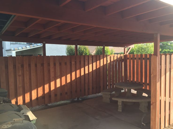 """""""AFTER"""" patio fence project for my buddy"""