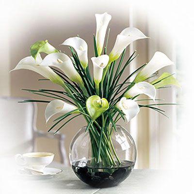 I love the big, loose arrangements of calla lillies. Gotta find some for our living room or dining table.