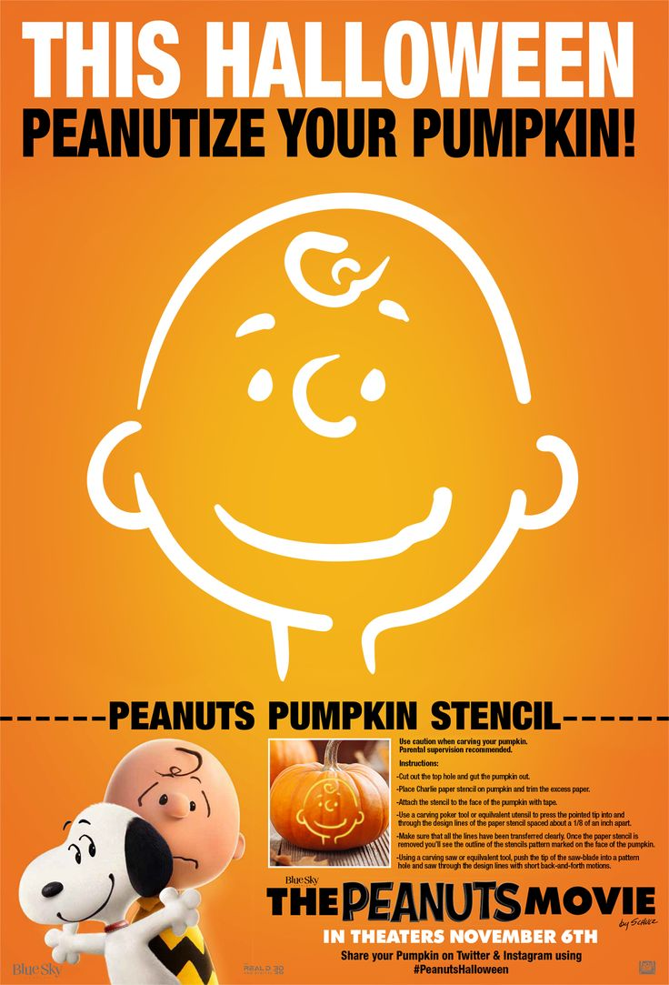 Peanutize your pumpkin with Charlie Brown!
