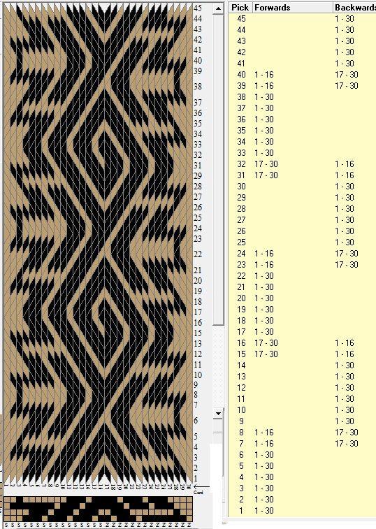 30 tarjetas, 2 colores, repite cada 16 movimientos // sed_984a diseñado en GTT༺❁