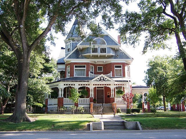 Spectacular Queen Anne Victorian Paxton IL Brick House By Armyarch Via