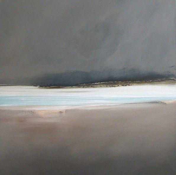 Overland. 76cm x 76cm, oil on canvas. Dion Salvador Lloyd