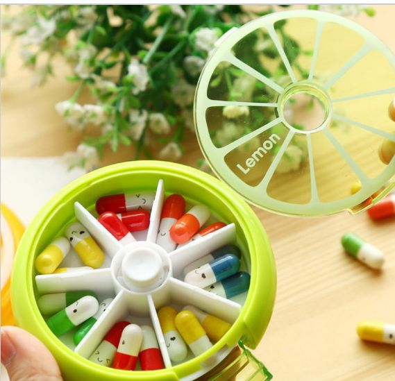7 Days Vitamin or Pill Organizer - Weekly Storage Wheel