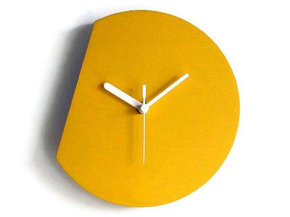 Laser cut wood modern wall clock,silent wall clock,minimal wall clock,small wall clock,minimalist wall clock,colorful wall clock,wood clock