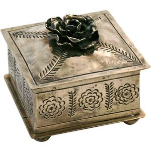 J ALEXANDER Stamped Rose Box