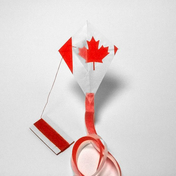 CANADA flag kite http://kitecompany.com/collections/flagkite/products/canada-postcard?variant=856565191