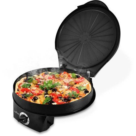 NutriChef Electric Pizza Maker/Pizza Oven, Black