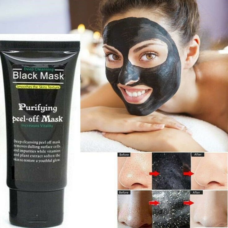 Blackhead Remover Deep Clean Purifying Peel Off Mascarilla negra para el acné con barro #FaceMa … –