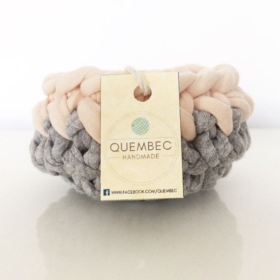 Set of 3 mini baskets handmade crochet PASTELOVE by Quembec