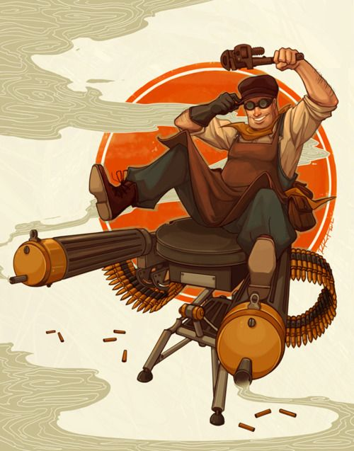 1920s #TF2 Engineer by Ramida-R // My fave class.