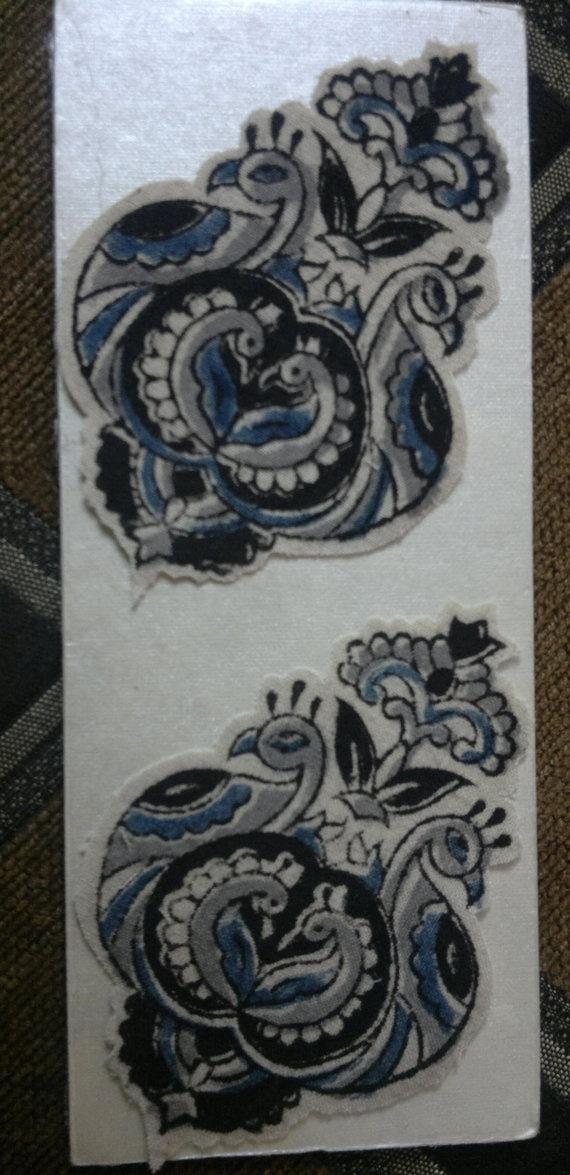 Set of 10 Peacock Kalamkari Print Cotton Fabric by GiftsOfIndia, $10.00
