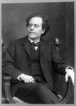 Gustav Mahler (Kalischt, Boêmia - Império Austro-Húngaro - atualmente República Checa, 7 de julho de 1860 — Viena, 18 de maio de 1911) foi um Maestro judaico checo-austríaco e compositor. Atualmente, Mahler costuma ser visto como um dos maiores compositores, lembrado por ligar a música do século XIX com a do período moderno e por suas grandes sinfonias e ciclo de canções sinfónicas, como, por exemplo, Das Lied von der Erde (A Canção da Terra).