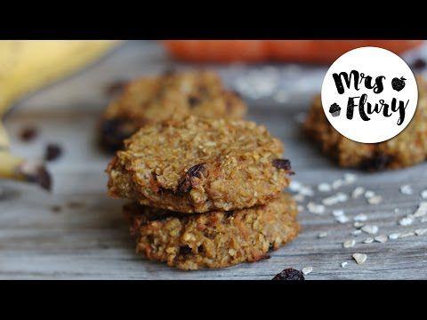 Karotten-Apfel Cookies | ohne Zucker, ohne Mehl, gesund und lecker | Mrs Flury backt - YouTube