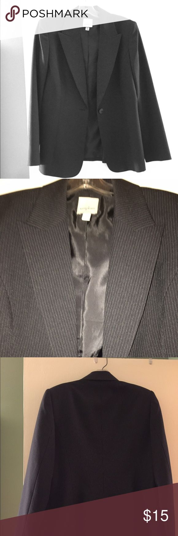 Price Break Women's Anne Klein Suit Jacket This jacket is a classic that never goes out of style. Beautiful pinstripe jacket by Anne Klein Anne Klein Jackets & Coats Blazers