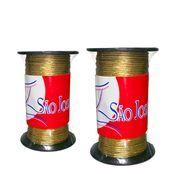Cordão metalizado São José ouro rolo 9000R c/50m X 1mm - 1776