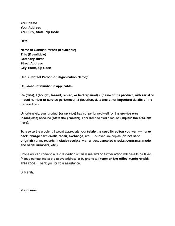 Complaint Letter Sample – Download FREE Business Letter Templates and Forms #call #reply http://reply.remmont.com/complaint-letter-sample-download-free-business-letter-templates-and-forms-call-reply/  Complaint Letter Sample Complaint Letter Sample How to write a letter of complaint. A complaint letter is a letter usually written by a customer to the company when there is a problem concerning the provided goods and services. It is a fact that no matter how perfect a business is, there are…