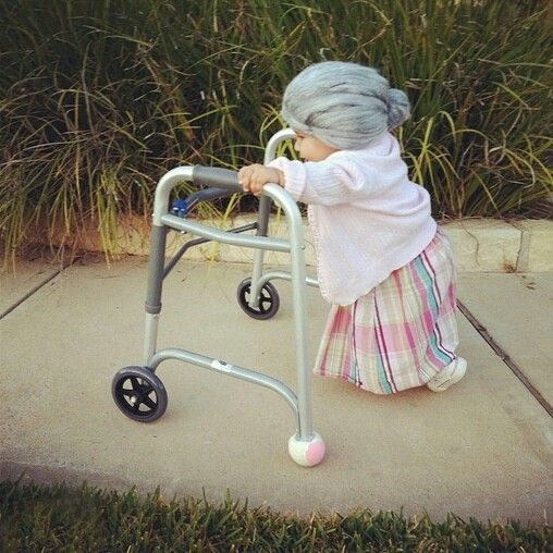 little old lady costume - Unique Kids Halloween Costume