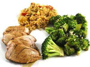 Roasted Asian-Style Lean Pork Tenderloin Dinner