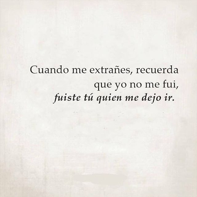 Cuando me extrañes...