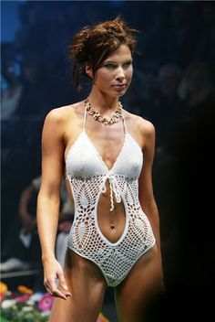 Crochet swimsuit, wow! But not for me