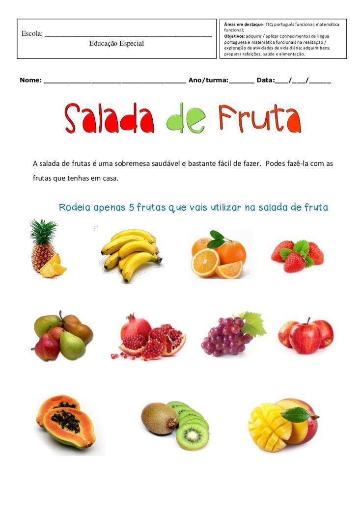 Ficha funcional de educação especial para trabalhar noções de português e matemática, bem como atividades da vida diária e TIC.