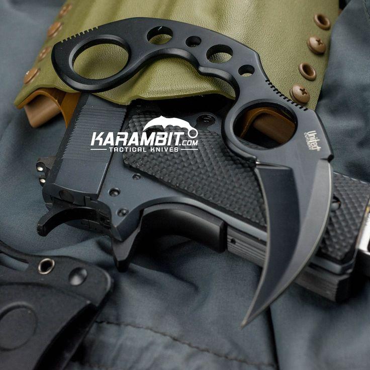 Black Undercover Karambit w/Sheath - Karambit.com