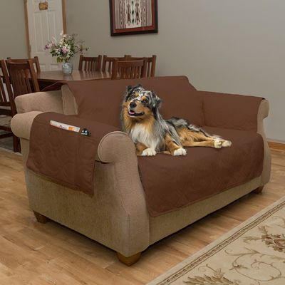 100% waterproof furniture cover will protect your furniture from spills, stains, fur, accidents and general messes caused by your pets or children. This attractive, easy to care for, furniture protector is designed to fit most upholstered couches or sofas. For added convenience we have included elastic straps to hold the cover in place as well as three large pockets for your remote, phone, table, magazine and more. This furniture cover is easy to put on, easy you take off, looks great in…