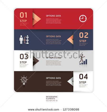 Modern arrow origami style step up options banner. Vector illustration. can be used for workflow layout, diagram, number options, web design, infographics. by graphixmania, via ShutterStock