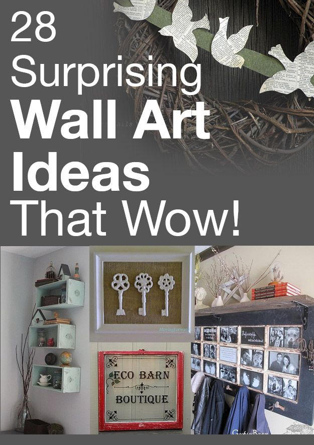 Wall art doesn't have to be expensive--these ideas are crazy awesome!