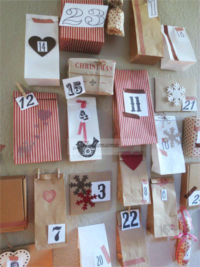 #advents calendar #calendario de adviento #diy