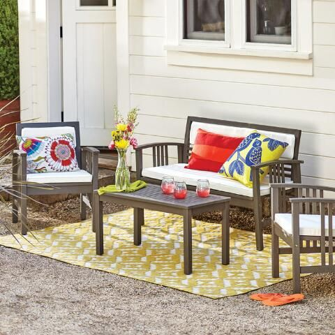 Belize 4 Piece Outdoor Occasional Furniture Set