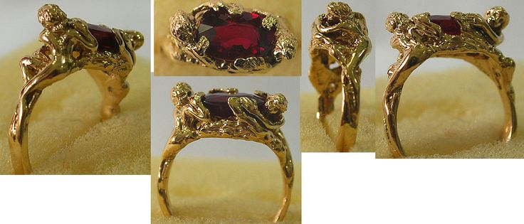A Price Above Rubies in 18kt and genuine natural Burma ruby, 2.5 ct. Designed from the muse ring in the movie A Price Above Rubies...  Michelle Robison robison@henry-net.com www.picturetrail.com/michellerobison