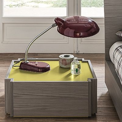 Wooden, modern 'Aurora' bedside table. Great piece made out of wood, very contemporary and elegant. My Italian Living.