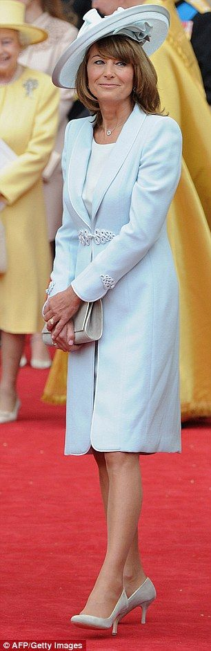 Carole Middleton after her daughter Kate's wedding. You see the Carole effect directly at LK Bennett, her go-to brand