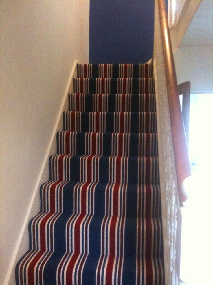 Lush Striped Stair Carpet Carpets Pinterest