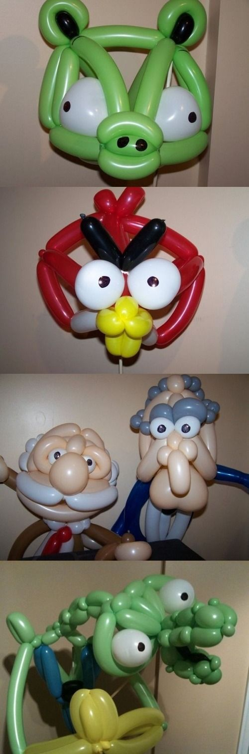 Интересные поделки из воздушных шариков