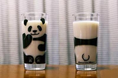 WANT!! They even draw the panda's tail on the back of it!!