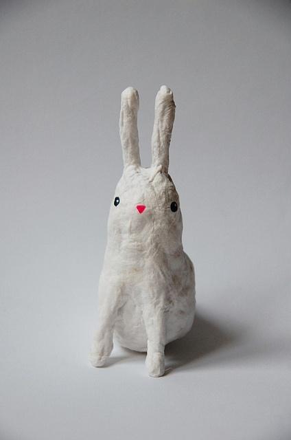 papier mache bunny