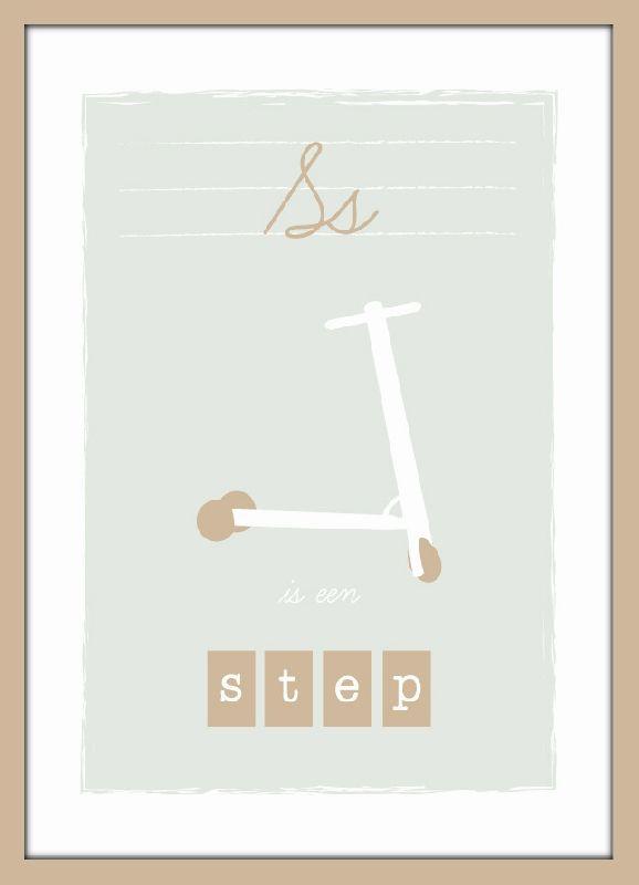 Poster S is een step