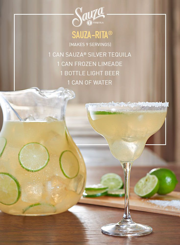 The mother of all margaritas, the classic Sauza-Rita® combines limes and 100% agave tequila for a taste that has stood the test of time. For more great cocktail recipesvisit us @ us.sauzatequila.com
