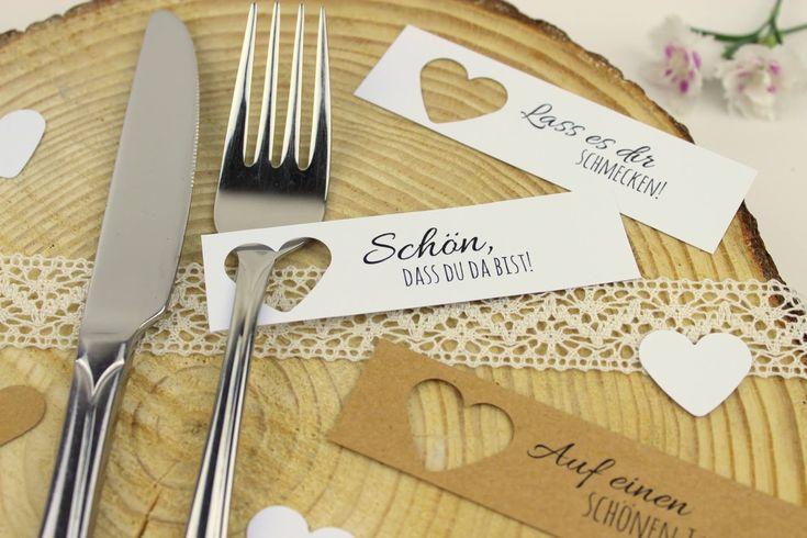 DIY Tischkarten ganz einfach selber machen + 5 kostenlose Vorlagen – ideal für die perfekte Hochzeit – Becca Tmm