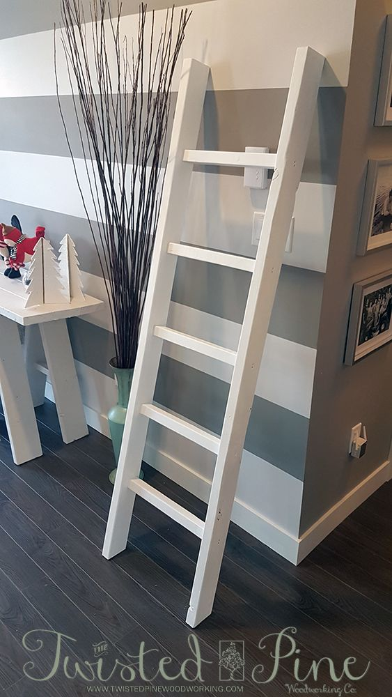 Blanket & Towel Ladder - Multi purpose ladder.   72″ H x 3 1/2″ W x 19″ L  (approx) Comes in a variety of stains Weathered Oak stain with semi-gloss finish shown Two tone stain can be applied Can be custom size – call for details  $65