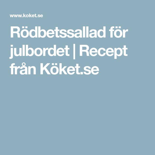 Rödbetssallad för julbordet | Recept från Köket.se