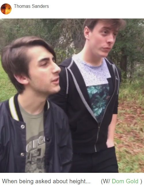 Thomas Sanders When Being Asked About Height. How tall are you?