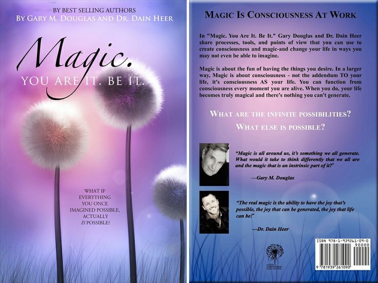 """#garydouglas Here is the book entitled """"Magic. You Are It. Be It."""" written by Gary Douglas and Dr. Dain Heer. It is a self-help book that explores the creative side of our consciousness."""