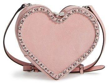 Rebecca Minkoff Chain Heart Crossbody Bag - Purple
