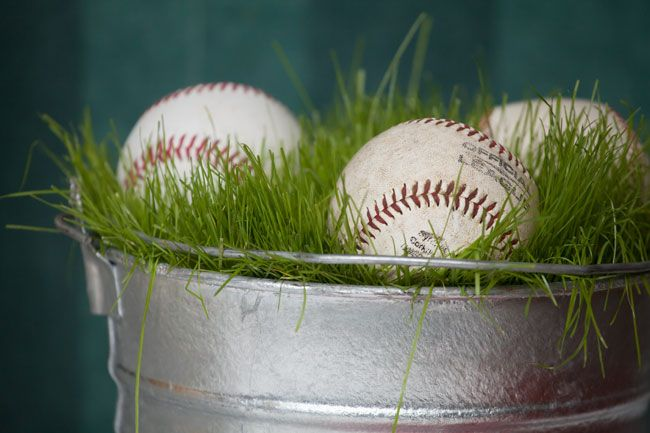 Anyone for a baseball themed birthday party or to celebrate the world series or I guess spring training! - a centerpiece baseball party