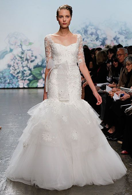 Long Sleeved, Mermaid Bridal Gown 2012 by Monique Lhuillier - Moment