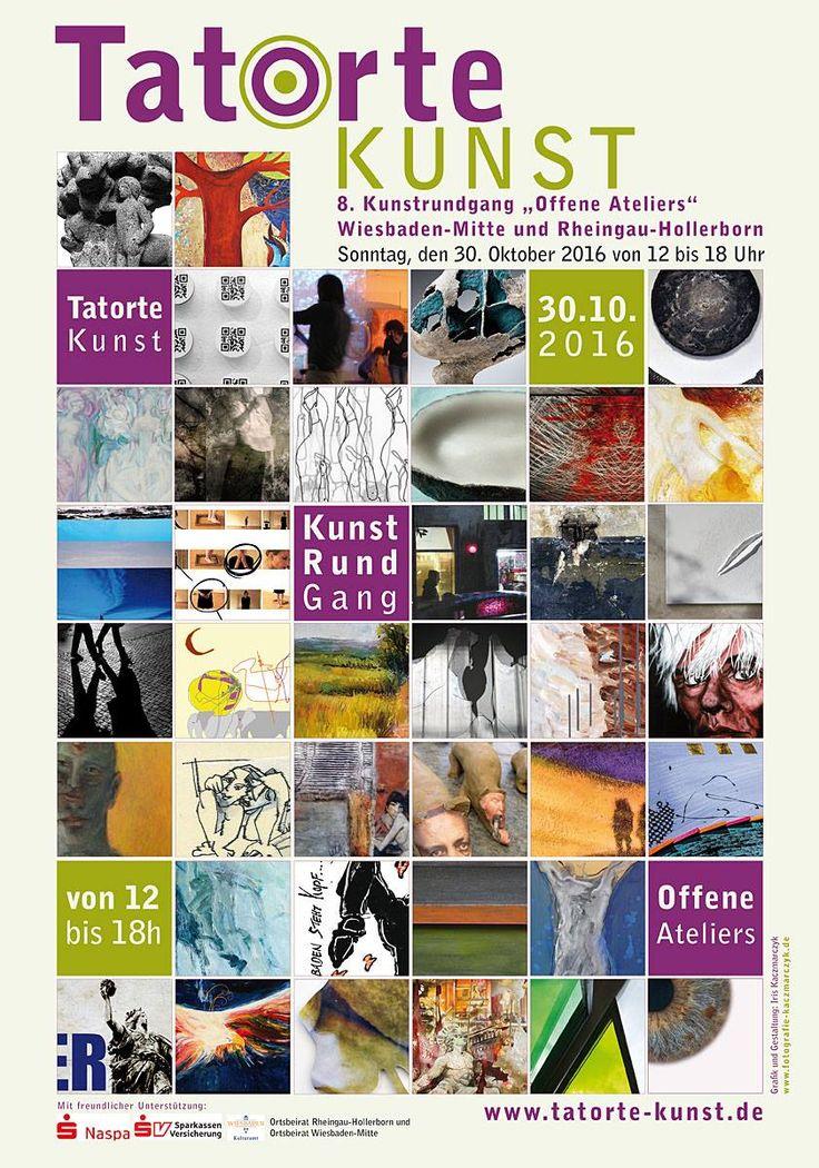 """Tatorte Kunst – 8. Kunstrundgang """"Offene Ateliers"""" – Ausstellung bis 20.11.2016 www.galerie-h22.de/ausstellungen/tatorte-kunst-2016/"""
